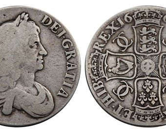 Charles II crown 1664 Great Britain silver coin