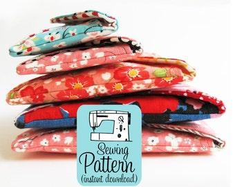 Secret Pocket Envelope Clutches PDF Sewing Pattern | Clutch Pouch Wallet Sewing Pattern PDF