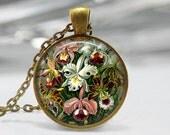 Orchid Pendant, Haeckel Orchid Pendant, Orchid Jewelry, White Orchid Pendant, Orchid Art Pendant, Bronze, Silver, Orchids Art Pendant 1124