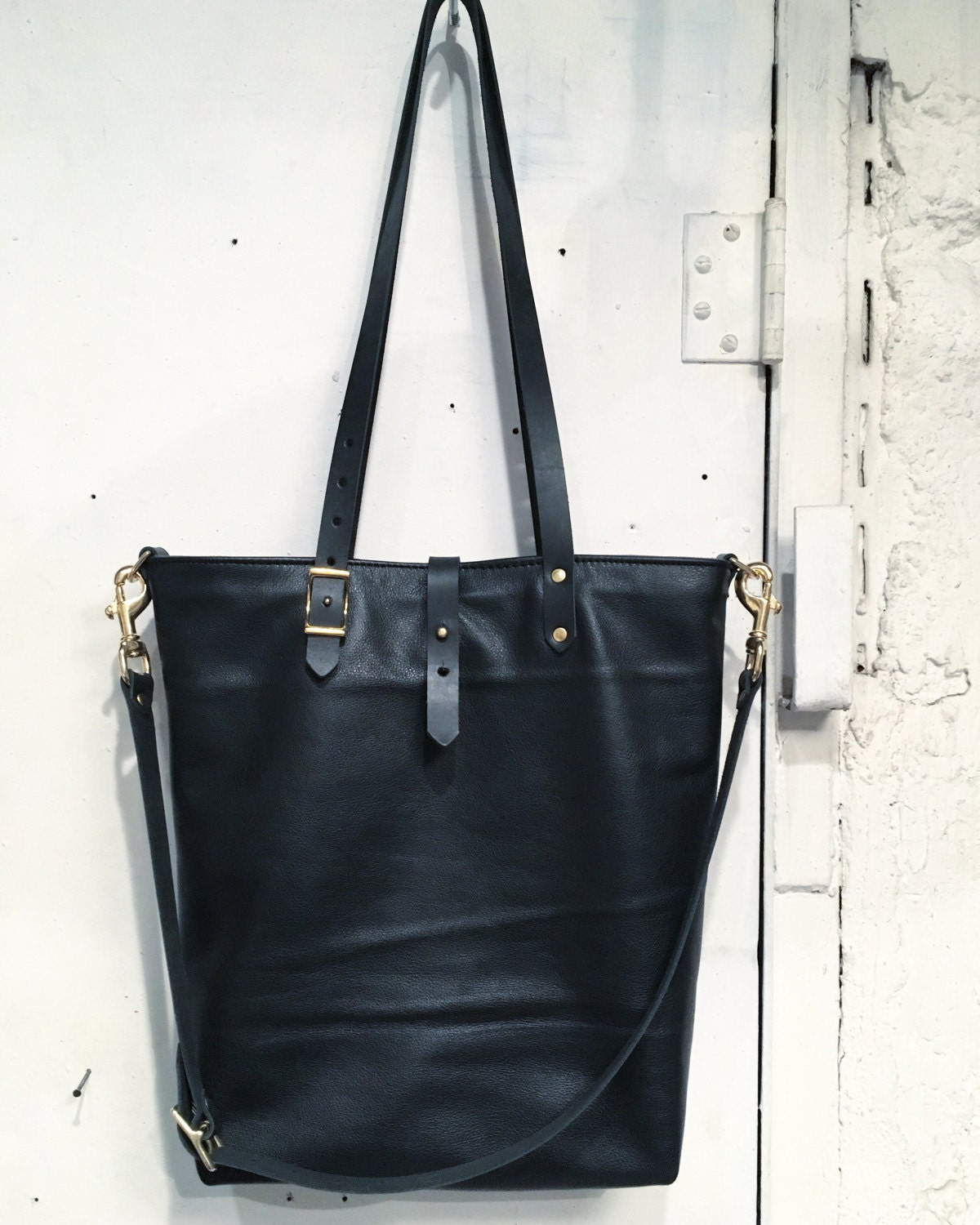 Reserved all black tote