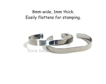 DIY jewelry 15 gunmetal cuff bracelets,dark silver bracelet blanks, stamping blank, bracelet for wire wrapping, gunmetal bracelet