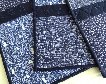 Japanese Tenugui Quilted Placemats - set of 4 - no.9