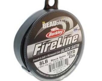 Fireline, 8 LB, 50 yard spool, *NEW* Black Satin