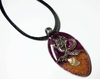 Resin Spoon Pendant - Splashin Mermaid -  Altered Art Necklace 1