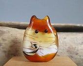 Wild Tiger Cat Handmade Lampwork Focal Bead - Antoinette FatCat