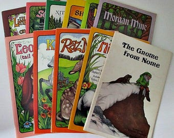 Vintage Childrens Picture Books - 11 Stephen Cosgrove Serendipity Books - Animal Themed Books - Home School Teaching Books Supply
