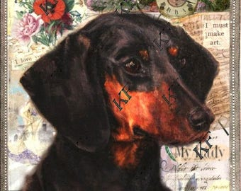 Molly - Giclee Print - Pop Art Dachshund Dog