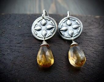 Avignon ... citrine earrings