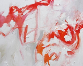 Giclee Print Abstract Painting Abstract Art Abstract Expressionist Modern Art Wall Decor Made To Order Red Fine Art Print by Linda Monfort