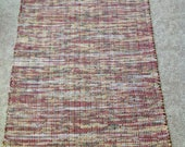 Rag Rug reuse flannel sheets 38 inches long by 27 inches wide handmade homedecor