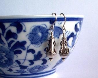 Ornate Drops -  Bali Sterling Silver Earrings SRAJD