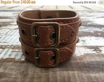 50% OFF- Custom Leather Cuff-Create Your Own--Word Cuff-Rustic Hardware-Chunky Cuff