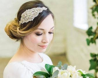 Embellished Applique Headband, Caroline
