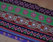 Vintage Jacquard Fabric Trim Ribbon Embroidered Lot Retro Colorful Large Set 215 total yards