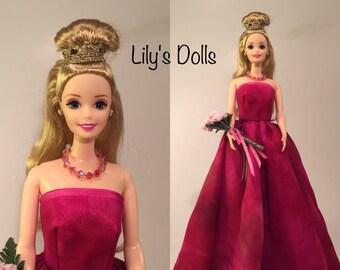 OOAK Barbie, BARBIE, Barbie clothes, Vintage Barbie, Barbie doll gown,Barbie fashions, Collector Barbie, Unique Barbie, Silkstone Barbie
