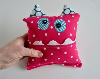 Monster Tooth Fairy Pillow - Pink Tooth Fairy Pillow - Girls Tooth Pillow - Modern Tooth Pillow - Gift for Kids - Lost Tooth Pillow