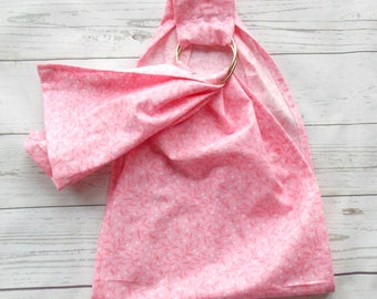 Doll Ring Sling - Doll Sling - Baby Doll Sling - Baby Doll Carrier - Doll Ring Sling - Doll Carrier Wrap - Big Sister Gift - Pink Vine Style
