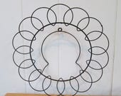 New Roof SALE vintage black wire plate holder