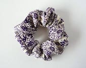 Purple Ponytail Holder, Silk Kimono Scrunchies, Light Purple Murasaki Shushu, Kimono Hair Tie