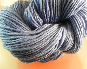 SALE... Was 8.50... Now 6.00...BLUEJAY...handspun, handpainted wool yarn...4oz...180yd