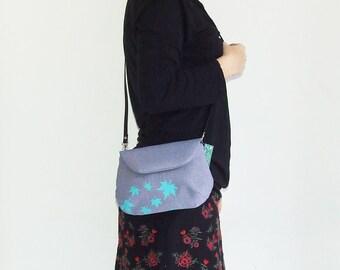Leaves  Small Bag for Woman , Handbag, Purse, Crossbody Bag , ScreenPrint