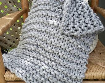 Chunky Hand Knit Blanket Newborn Photo Prop Basket Stuffer FREE Shipping in USA