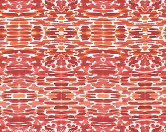 Red Aztec watercolor 8x10 print