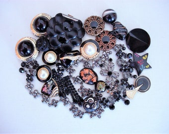 Craft Lot of Various Vintage Broken Jewelry and Items