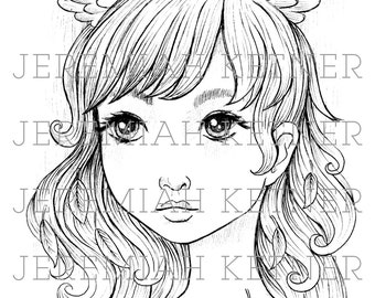 Head Winds - Coloring Page
