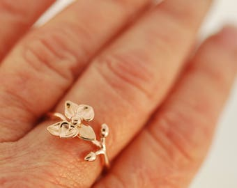 Rose Gold Orchid Stem Series