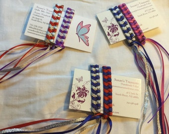 80's Retro Ribbon Streamer Barrettes Package of Two