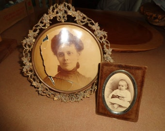 Marked down 7/23 Antique picture frames Old worn wonderful Victorianpicture frame Old smaller picture frame possibly suade