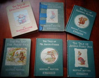 Old Worn Wonderful Childrens Books Illustrated /Great for your scrapbookkeeping projects/ As is/ Beatrix Potter