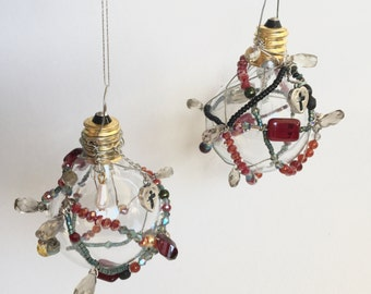 2 Wire Wrapped Ornaments