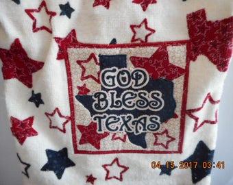 MadieBs God Bless Texas Multi Stars  Plastic Bag Holder Dispenser
