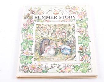 Summer Story, Jill Barkley, Vintage, Children's, Book, Beautiful Illustrations  ~ The Pink Room ~ 160906
