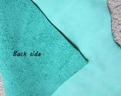 Leather Cow Hide Turquoise Green  Nicole's BeadBacking Beading Crafts Textiles Leather Fabric Leatherwork LLT