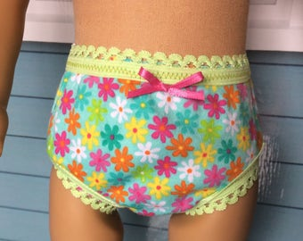 18 inch Doll Clothes - 2 Pairs of Underwear - flowers and sailboats