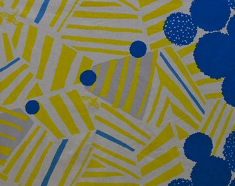 Japanese Fabric Kokka Echino - ray - yellow - 50cm