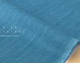 Japanese Fabric double gauze - faux denim - blue - 50cm