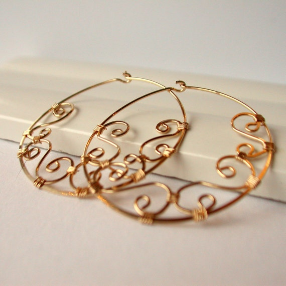 Adorned Round Hoops