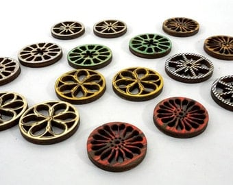 Cute Small Wheels - Collection of 16 Laser Cut Wood Craft Wheels