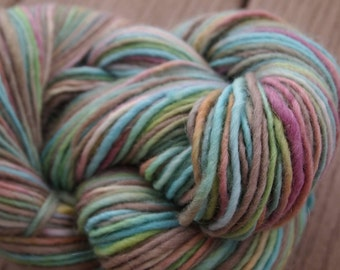 FRUIT LOOPS Handpainted Yarn Wool Mohair 184yards 3.6oz Worsted Weight Knitting Aspenmoonarts Hand Painted