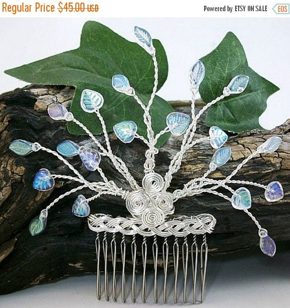 ON SALE Crystal Tree of Life Hair Comb, Bridal Hairpiece, Hair Accessories, Fascinator, Hair Pin, Irish Wedding