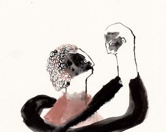 The Couple Original / gouache painting