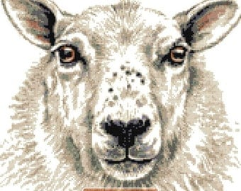 Sheep (v2) counted cross stitch kit