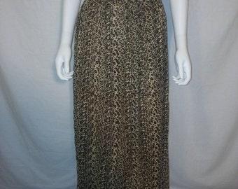 35% off SALE Animal print cheetah leopard skirt, size 3X plus size rayon skirt