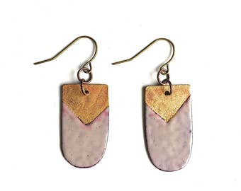 Grey and Gold Earrings