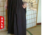 Sale -  Hakama - Skirt Style - Vintage Japanese Hakama Brown or Gray Formal Traditional