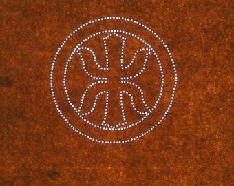 Vintage Japanese Stencil - Vintage Stencil - Kamon Stencil -  Family Crest Kamon (ST172) Sword